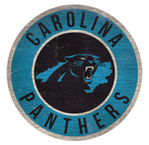 Carolina Panthers Sign Wood 12 Inch Round State Design