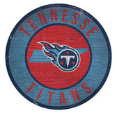 Tennessee Titans Sign Wood 12 Inch Round State Design