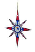 Kansas Jayhawks Snowflake Ornament