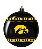 Iowa Hawkeyes 3in Sweater Ball Ornament