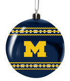 Michigan Wolverines 3in Sweater Ball Ornament