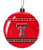 Texas Tech Red Raiders 3in Sweater Ball Ornament