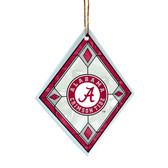 Alabama Crimson Tide Art Glass Ornament