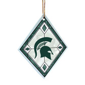 Michigan State Spartans Art Glass Ornament