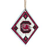South Carolina Gamecocks Art Glass Ornament