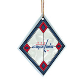 Washington Capitals Art Glass Ornament