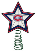 Montreal Canadiens Art Glass Tree Topper