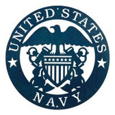 US Navy 12 Inch Blue Scenic Sign