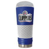Los Angeles Clippers The 24oz Powder Coated DRAFT - Vacuum Insulated Tumbler - Los Angeles Clippers