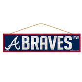 Atlanta Braves Sign 4x17 Wood Avenue Design