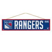 New York Rangers Sign 4x17 Wood Avenue Design