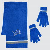 Detroit Lions Scarf and Glove Gift Set Chenille
