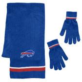 Buffalo Bills Scarf and Glove Gift Set Chenille