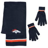 Denver Broncos Scarf and Glove Gift Set Chenille