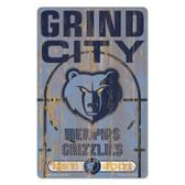 Memphis Grizzlies Sign 11x17 Wood Slogan Design