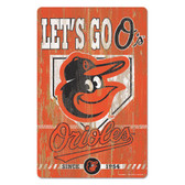 Baltimore Orioles Sign 11x17 Wood Slogan Design