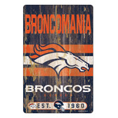 Denver Broncos Sign 11x17 Wood Slogan Design