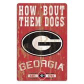 Georgia Bulldogs Sign 11x17 Wood Slogan Design