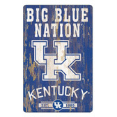 Kentucky Wildcats Sign 11x17 Wood Slogan Design