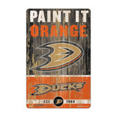 Anaheim Ducks Sign 11x17 Wood Slogan Design