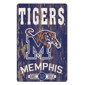 Memphis Tigers Sign 11x17 Wood Slogan Design