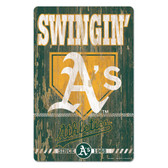 Oakland Athletics Sign 11x17 Wood Slogan Design