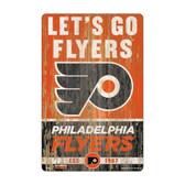 Philadelphia Flyers Sign 11x17 Wood Slogan Design