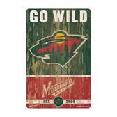 Minnesota Wild Sign 11x17 Wood Slogan Design