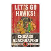 Chicago Blackhawks Sign 11x17 Wood Slogan Design