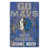 Dallas Mavericks  Sign 11x17 Wood Slogan Design