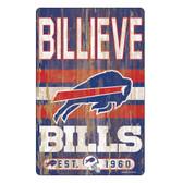 Buffalo Bills Sign 11x17 Wood Slogan Design