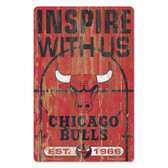 Chicago Bulls Sign 11x17 Wood Slogan Design