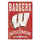 Wisconsin Badgers Sign 11x17 Wood Slogan Design