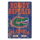 Florida Gators Sign 11x17 Wood Slogan Design