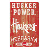 Nebraska Cornhuskers Sign 11x17 Wood Slogan Design