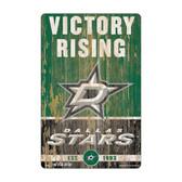 Dallas Stars Sign 11x17 Wood Slogan Design