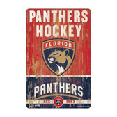 Florida Panthers Sign 11x17 Wood Slogan Design