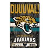 Jacksonville Jaguars Sign 11x17 Wood Slogan Design