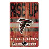 Atlanta Falcons Sign 11x17 Wood Slogan Design