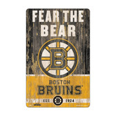 Boston Bruins Sign 11x17 Wood Slogan Design
