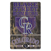 Colorado Rockies Sign 11x17 Wood Slogan Design