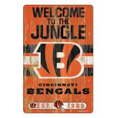 Cincinnati Bengals Sign 11x17 Wood Slogan Design