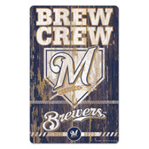 Milwaukee Brewers Sign 11x17 Wood Slogan Design