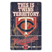 Minnesota Twins Sign 11x17 Wood Slogan Design
