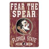 Florida State Seminoles Sign 11x17 Wood Slogan Design