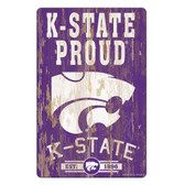 Kansas State Wildcats Sign 11x17 Wood Slogan Design