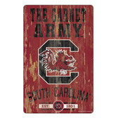 South Carolina Gamecocks Sign 11x17 Wood Slogan Design