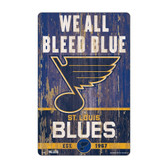 St. Louis Blues Sign 11x17 Wood Slogan Design'