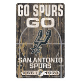San Antonio Spurs Sign 11x17 Wood Slogan Design