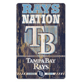 Tampa Bay Rays Sign 11x17 Wood Slogan Design